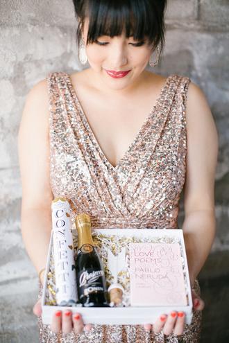 bklyn bride blogger dress glitter dress earrings