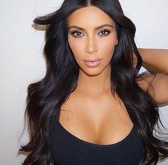 make-up kim kardashian hair/makeup inspo contoured skirt