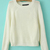 White Raglan Sleeve Round Neck Crop Sweater - Sheinside.com