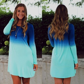 dress gradient blue casual women loose mini dress gradient blue gradient blue casual women loose mini mini dress blue dress gradient blue dress promo dress fall outfits lovely lovely outfits lovely dress casual dress short dress party dress party outfits girl girly lady fashion fashonable