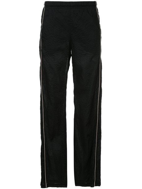 Zambesi - loose fit pajama-style pants - women - Cotton - 8, Black, Cotton