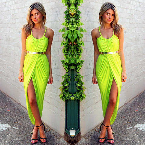 Worth The Wait Maxi Dress - LIME | Honey Peaches