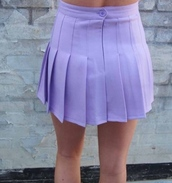 skirt,tennis skirt,pleaded skirt,kawaii,pastel,purple,pastel purple,pastel skirt,pastel grunge,grunge,lovely,cute,fairy kei,tumblr,hipster,lilac,high waisted,high waisted skirt