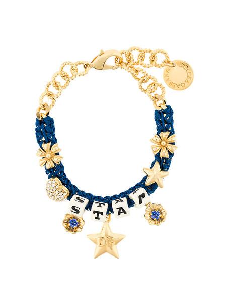 women charm bracelet blue jewels