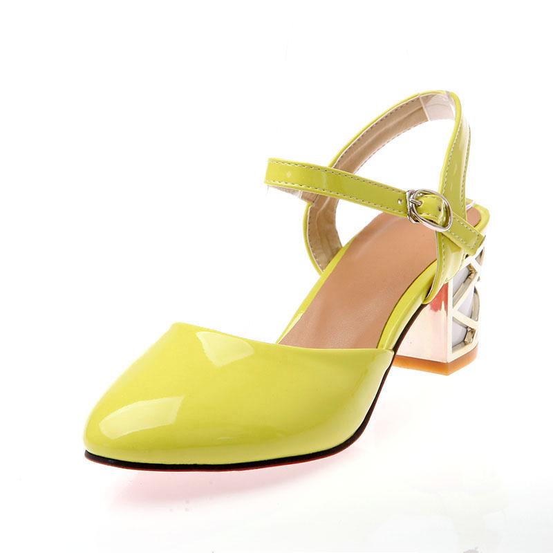Comfortable high heels crystal heel sweet ladies shoes Z-LQE-890-1-Lovelyshoes.net