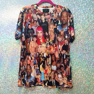 cotton celebrities collage collage tshirt will smith