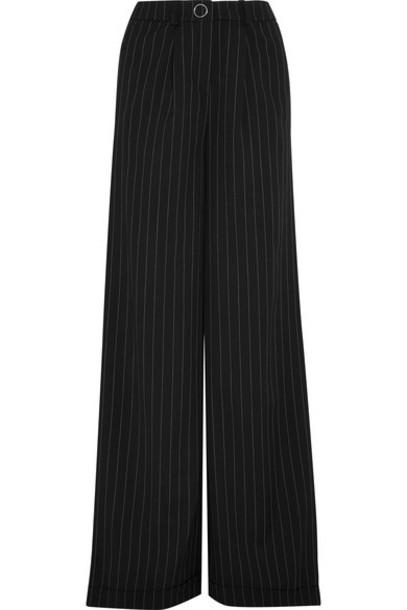 MUGLER pants wide-leg pants black wool