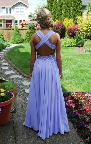 Aliexpress.com : Buy Sexy Backless Cross Straps Long Party Dresses Floor Length A line Halter Beaded Waist Chiffon Prom Dresses 2014 from Reliable dress fascinator suppliers on 27 Dress