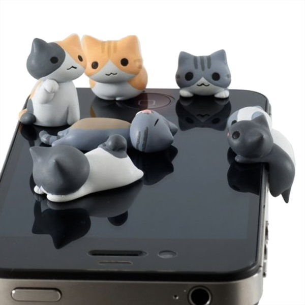 Cute Cat 3 5mm Anti Dust Earphone Plug Headset Cover Stopper Cap iPhone 4 4S G9 | eBay