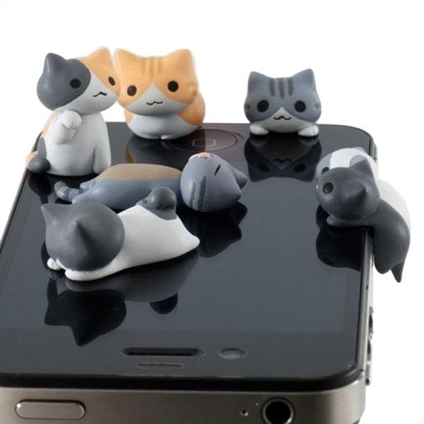 Cute Cat 3 5mm Anti Dust Earphone Plug Headset Cover Stopper Cap iPhone 4 4S G9 | eBay