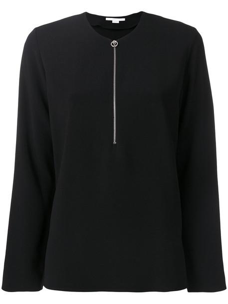 Stella McCartney blouse women spandex black top