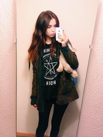 shirt black acacia brinley t-shirt jacket tank top