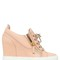 75mm leather wedge sneakers