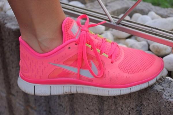 shoes nike nike free run pink sneakers nikefree freerunners sportswear sportswear