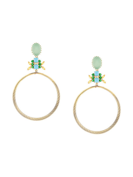 IOSSELLIANI women earrings hoop earrings gold grey metallic jewels