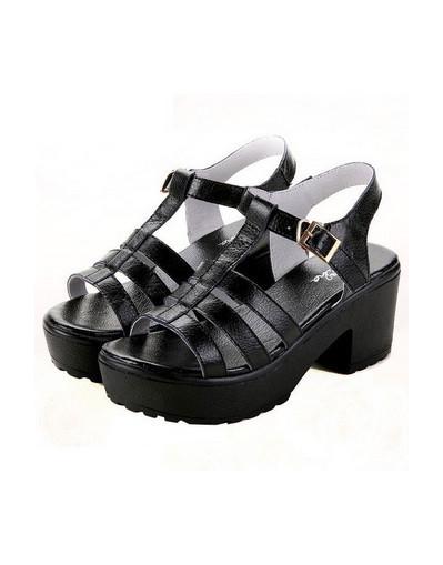 Classic chunky sandals black leather kim kardashian jessie j