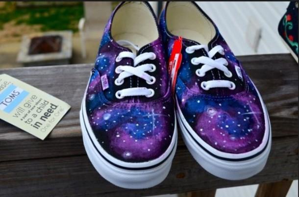 Shoes: nebula, vans authentic, vans sneakers, printed vans ...