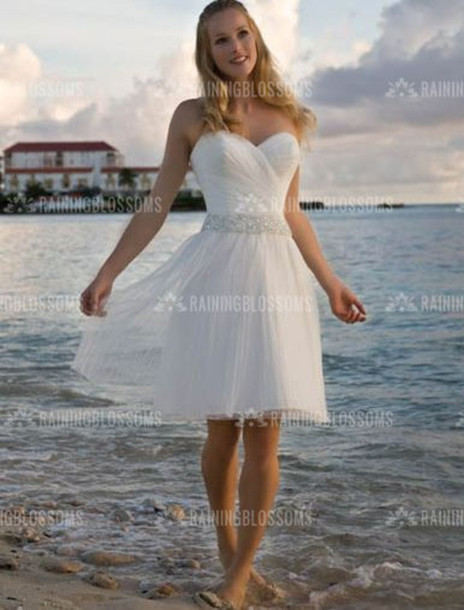 Dress: short wedding dress beach wedding dress wedding dress ...