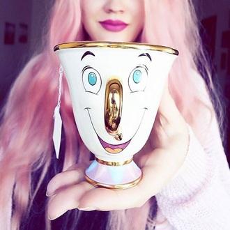 home accessory metallic home decor disney mug beauty and the beast