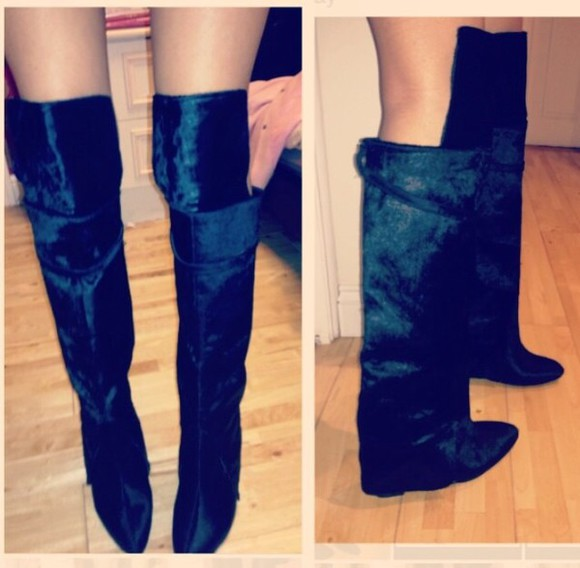 givenchy shoes boots pony hair over the knee boots