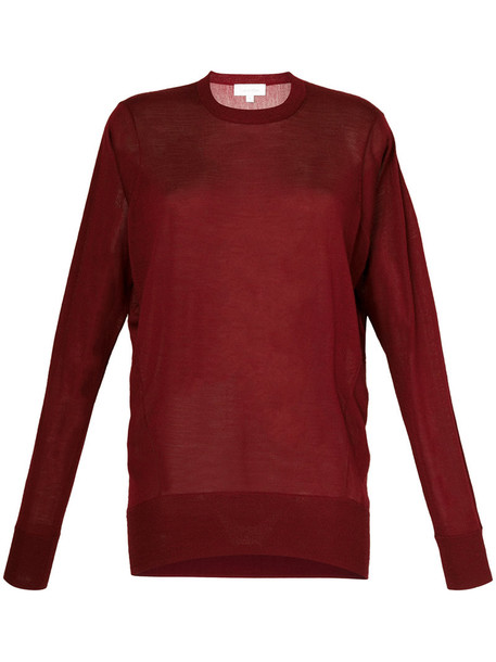 Ck Calvin Klein top knitted top women wool red