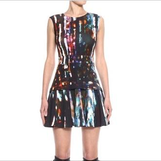 dress multi colored mcq mcq alexander mcqueen luxury dress fashion