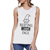 shirt,witch,white shirt,white muscle top,graphic muscle tops,funny shirt,halloween shirt,halloween