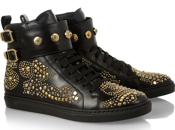 shoes studs studded versace high tops