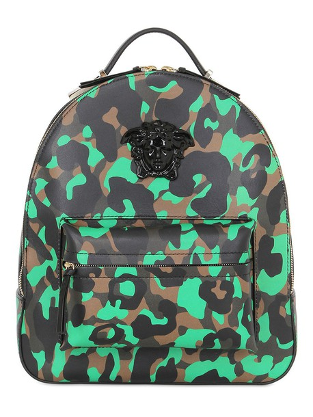 VERSACE backpack leather backpack leather bag