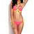 Neon Coral Peek-a-boo Push-up Bikini Set | Emprada