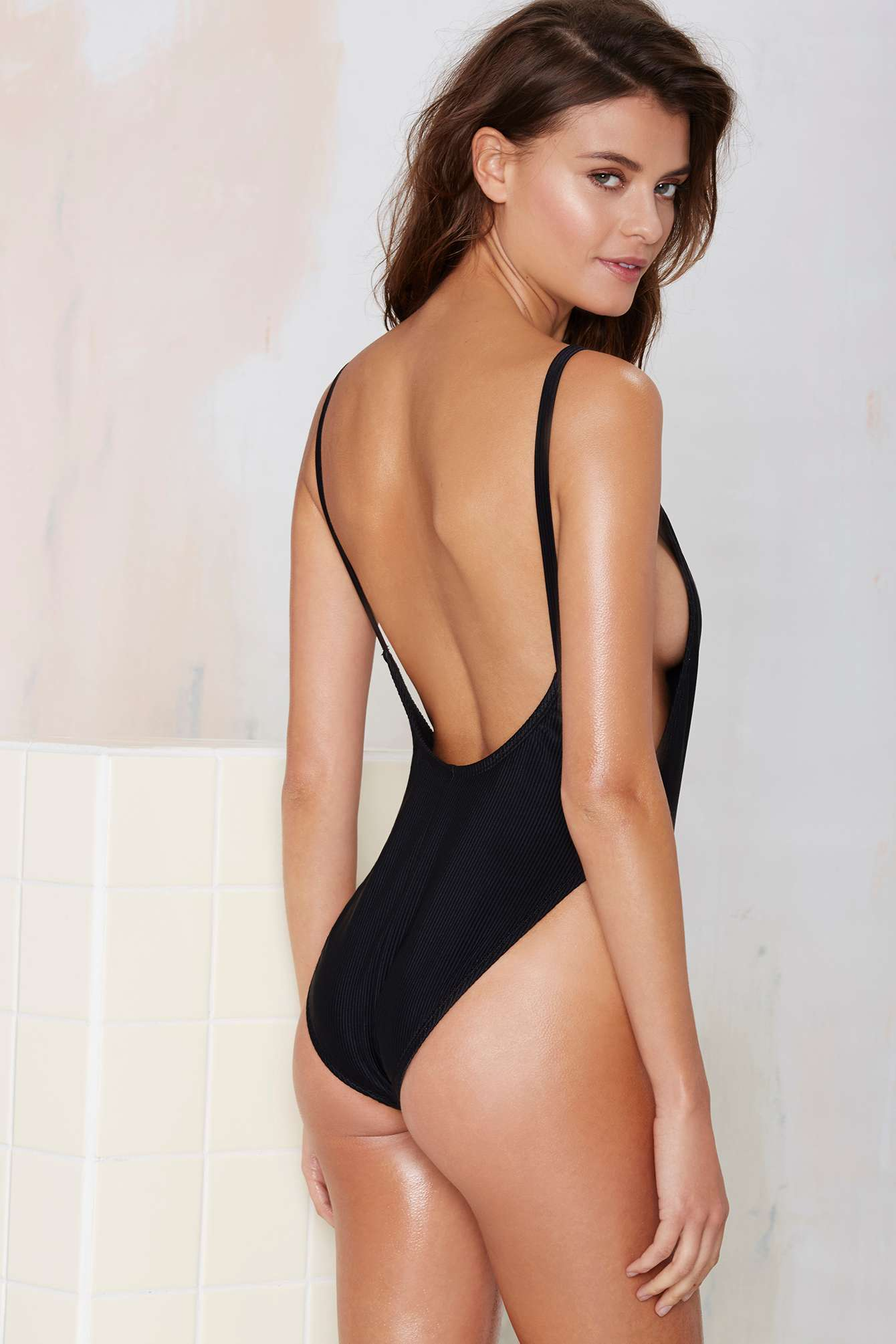 152ff3530bed2 Nasty Gal Alina Swimsuit - Black