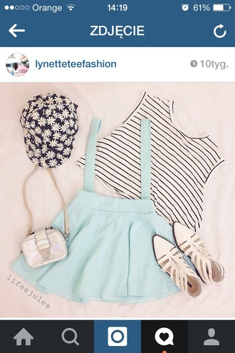 mint cute pale tumblr skirt kawaii