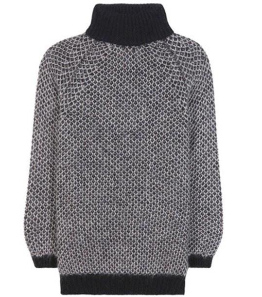 Marc Jacobs sweater mohair silk grey
