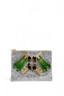 Silver neon rocks perspex spike with teardrop crystal and tu