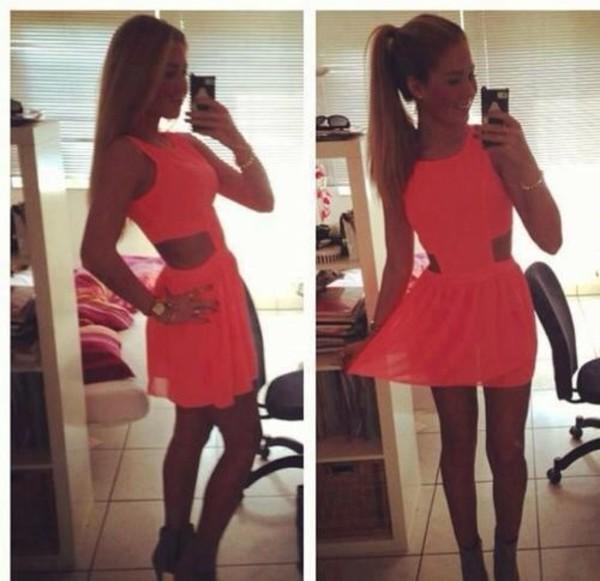 Cute Hot Orange Outfit Teen 83