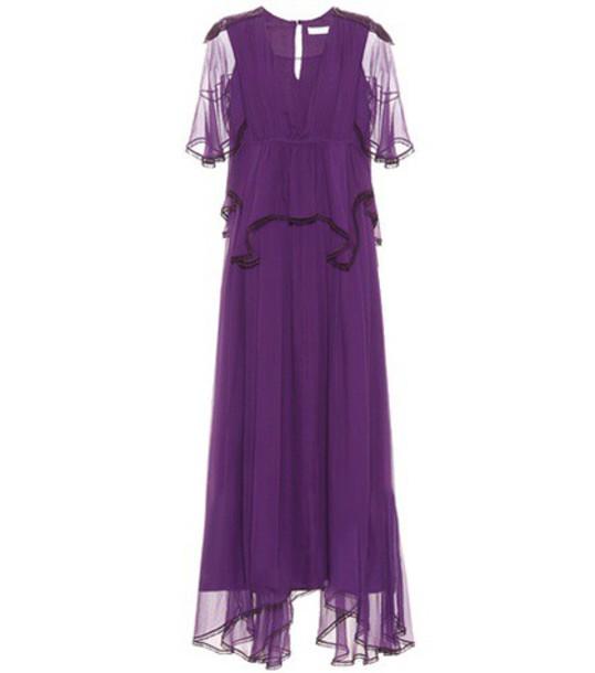 Chloé Silk dress in purple
