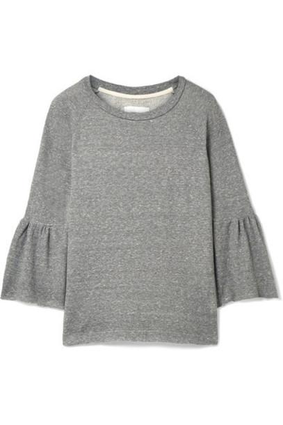 Current/Elliott sweatshirt ruffle cotton sweater