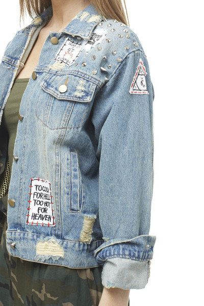 Too cool classic vintage jean jacket