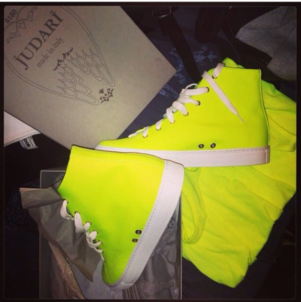 shoes sneakers acid yellow