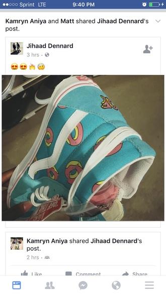 shoes vans high top sneakers donut