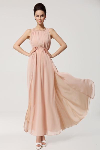 Sleeveless bohemian dress fashion plus size women backless long chiffon maxi dress off the shoulder/rc021