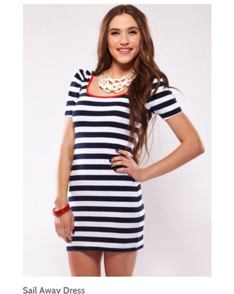 dress striped dress stripes sailor dress