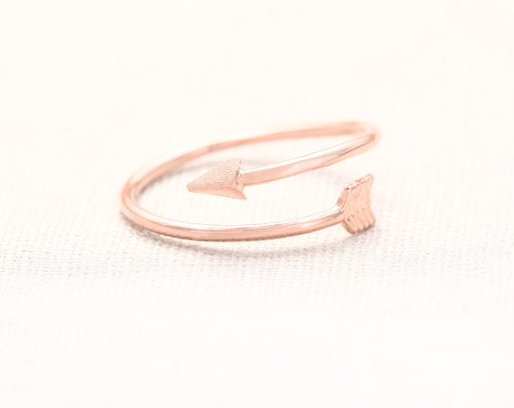 1 pcs order Arrow Wrap Ring Rose Gold Arrow Rings High quality Cool Jewelry For women-in Rings from Jewelry on Aliexpress.com