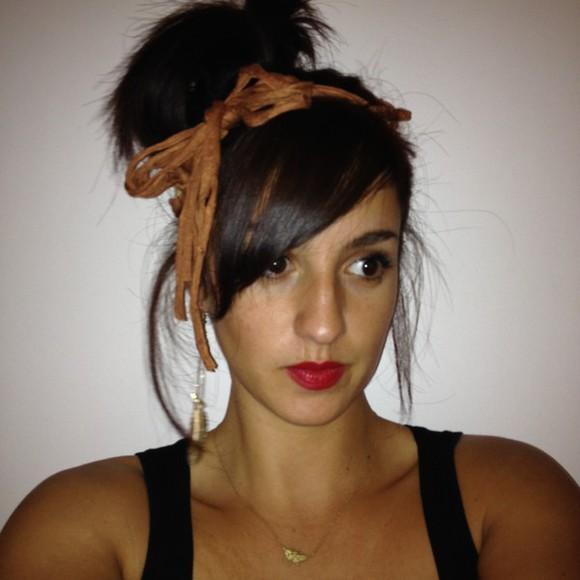 hair bow swag hair accessories hair band hairstyles chic glamour brown headband
