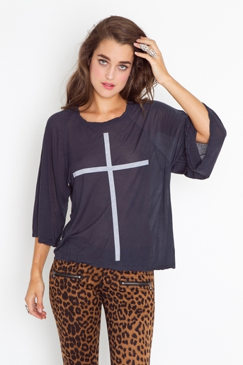 Faded cross tee in  sale at nasty gal