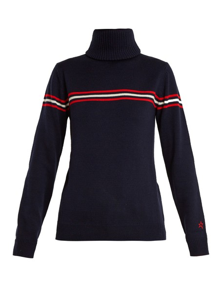Perfect Moment sweater wool sweater wool navy