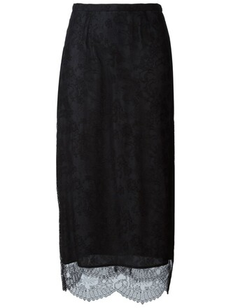 skirt midi skirt midi lace black