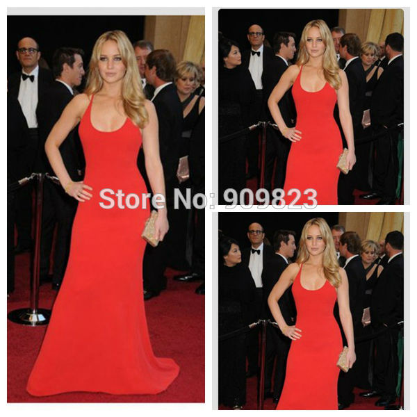 Aliexpress.com : buy jennifer lawrence robe dress square collar spaghetti strap floor length a line celebrity dresses 2014 red dress from reliable dress famous celebrities suppliers on my classic garden