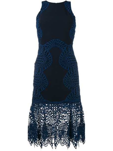Jonathan Simkhai dress women spandex lace blue silk