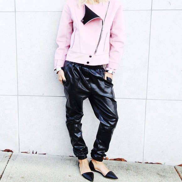 jacket motorcycle jacket pink pink leather jacket biker jacket pink jacket